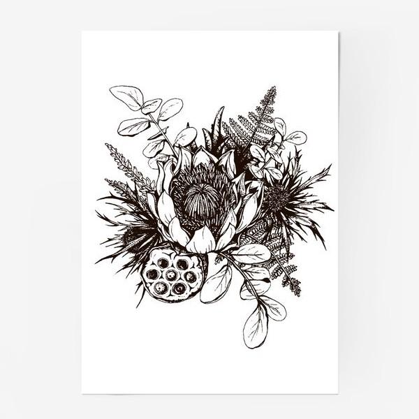 Постер «Букет, графика»