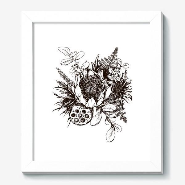 Картина «Букет, графика»