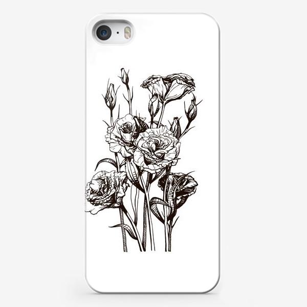 Чехол iPhone «Эустома, цветочный принт »