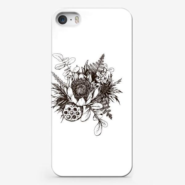 Чехол iPhone «Букет, графика»