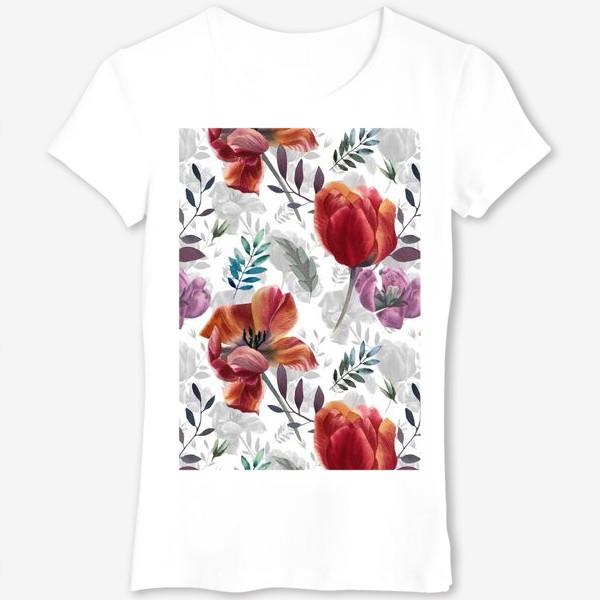 Футболка «Spring tulips»