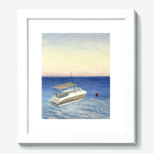 Картина «Кораблик в море. Акварель. Реализм.»