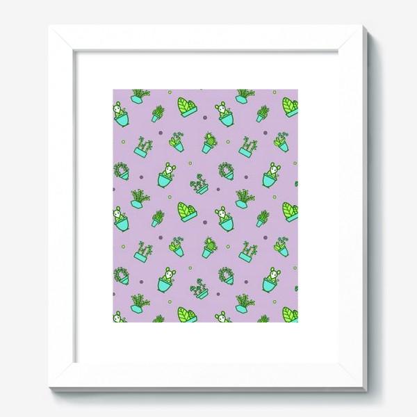 Картина «Цветы и мышки (квадрат)»