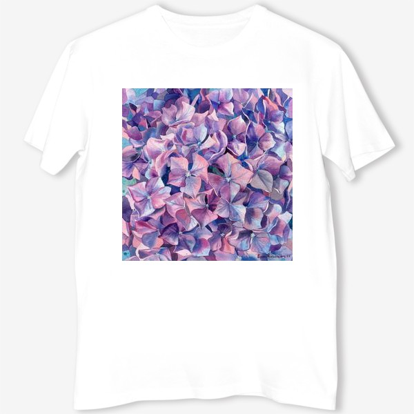 Футболка «Фиолетовая гортензия»