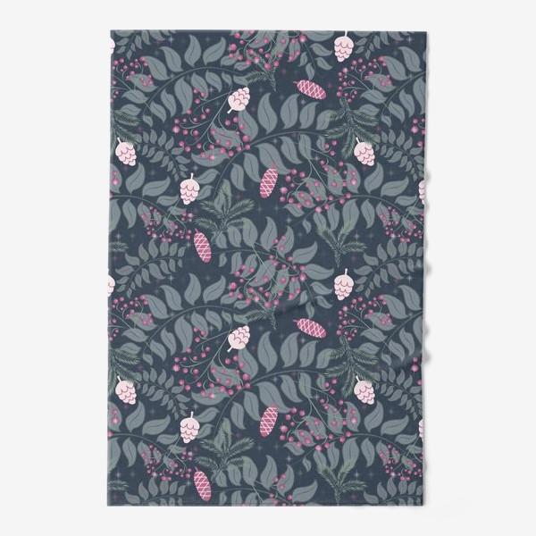 Полотенце «Зимняя флора, паттерн»