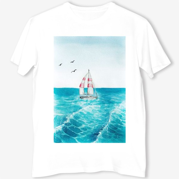 Футболка «корабль в море»