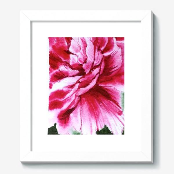 Картина «Яркий розовый пион»