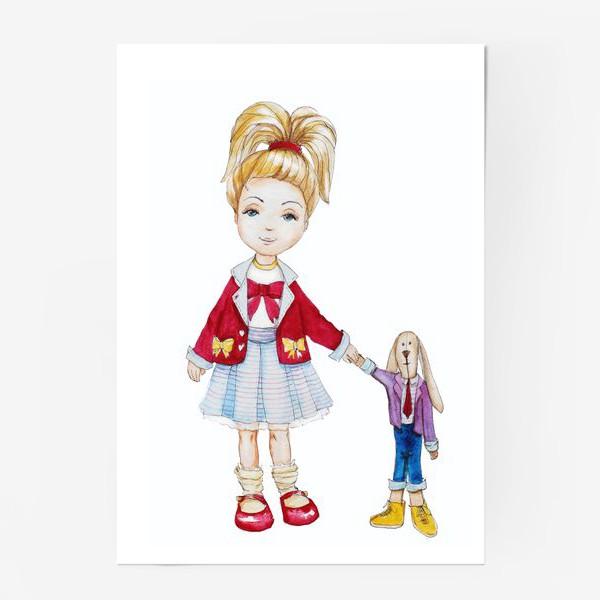 Постер «Девочка и кролик»
