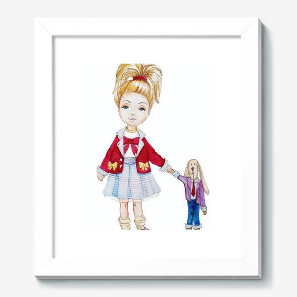 Картина «Девочка и кролик»