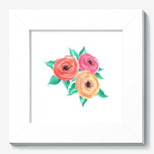 Картина «Серия цветы, пионы, розы (акрил)»
