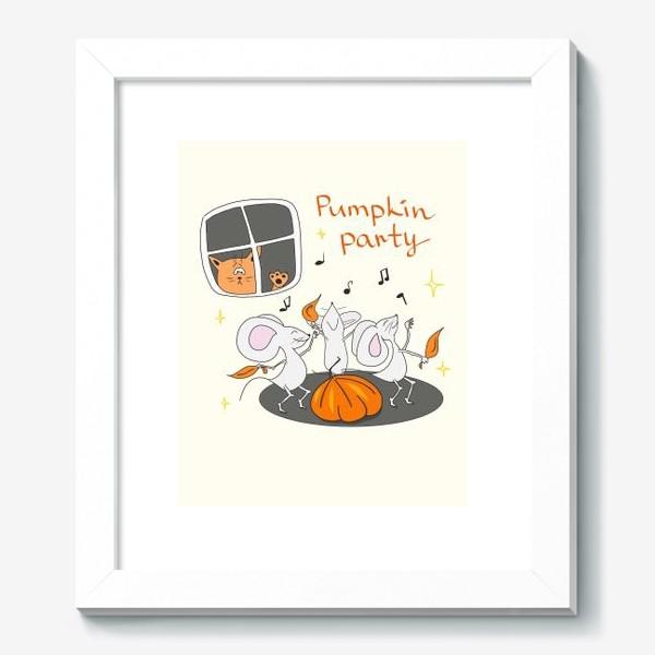 Картина «Мыши. Тыква. Подарок на Хэллоуин»