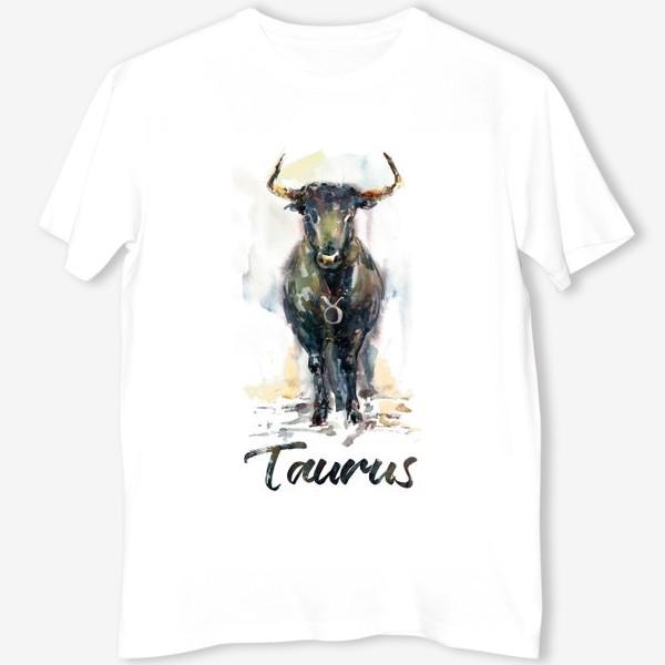 Футболка «Taurus / Телец. Акварель»