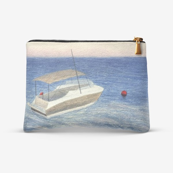 Косметичка «Кораблик в море. Акварель. Реализм.»
