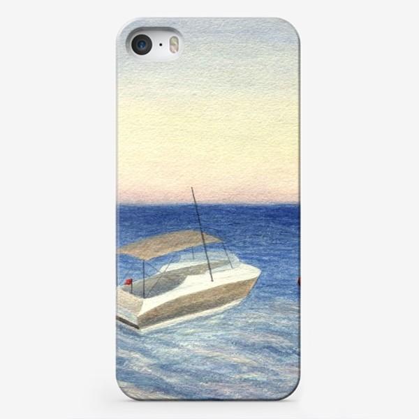 Чехол iPhone «Кораблик в море. Акварель. Реализм.»