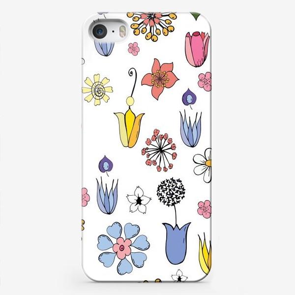 Чехол iPhone «цветочные дудлы»