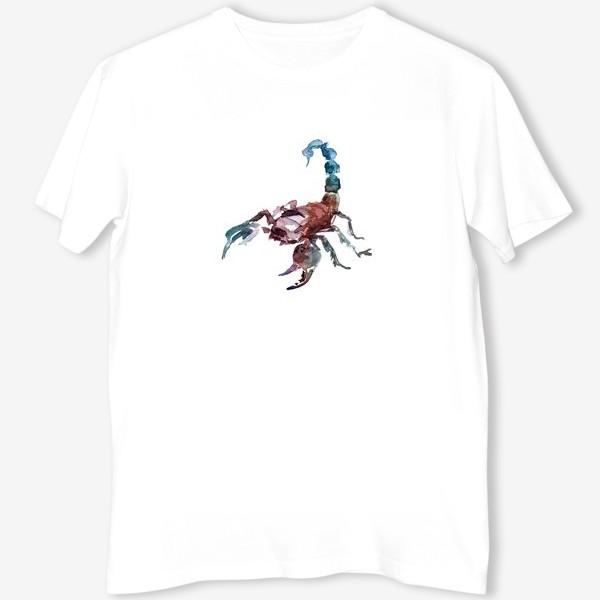 Футболка «Скорпион. Акварельная серия животных.»