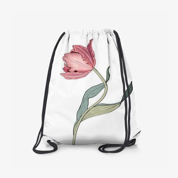 Рюкзак «красивый розовый тюльпан»