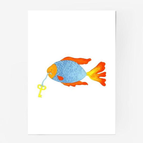Постер «Рыбка с золотым ключиком»