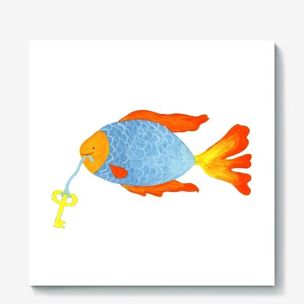 Холст «Рыбка с золотым ключиком»