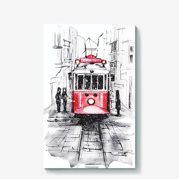 Холст «Стамбульский трамвай»
