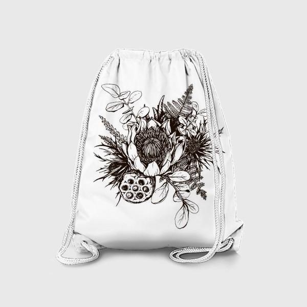 Рюкзак «Букет, графика»