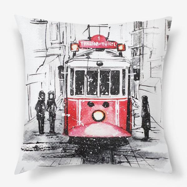 Подушка «Стамбульский трамвай»