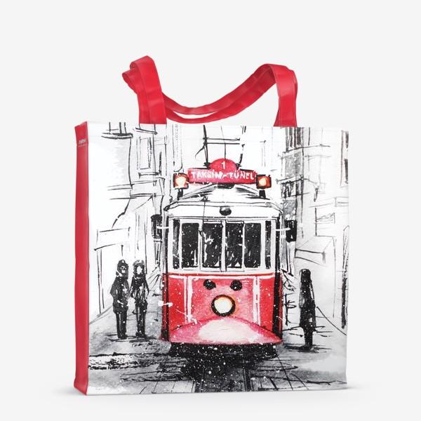 Сумка-шоппер «Стамбульский трамвай»
