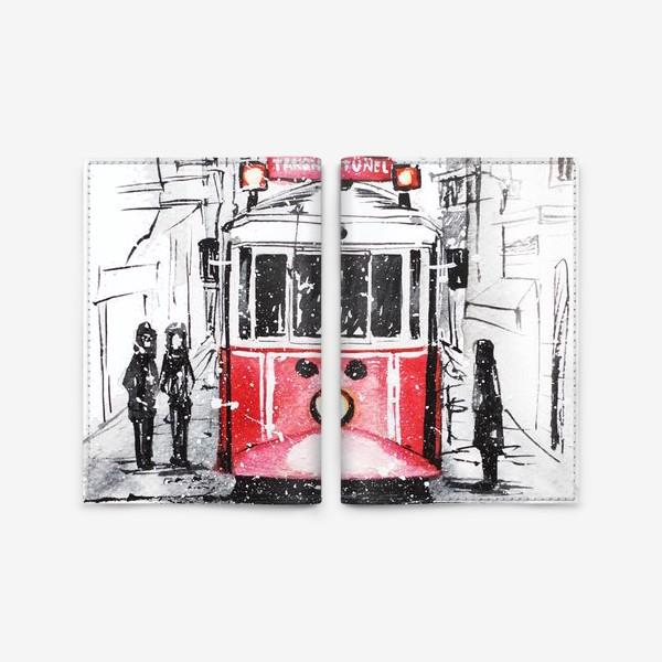 Обложка для паспорта «Стамбульский трамвай»