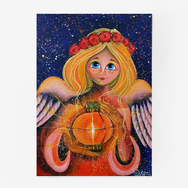 Постер «Ангел с фонариком»