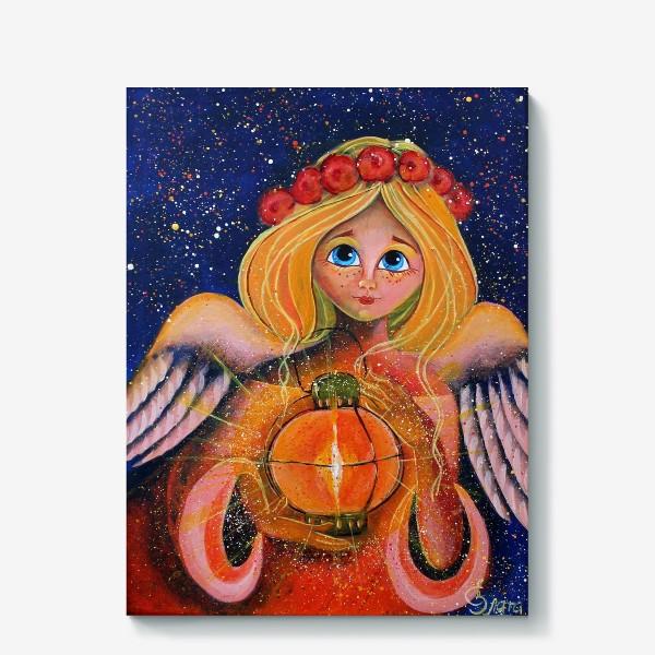 Холст «Ангел с фонариком»