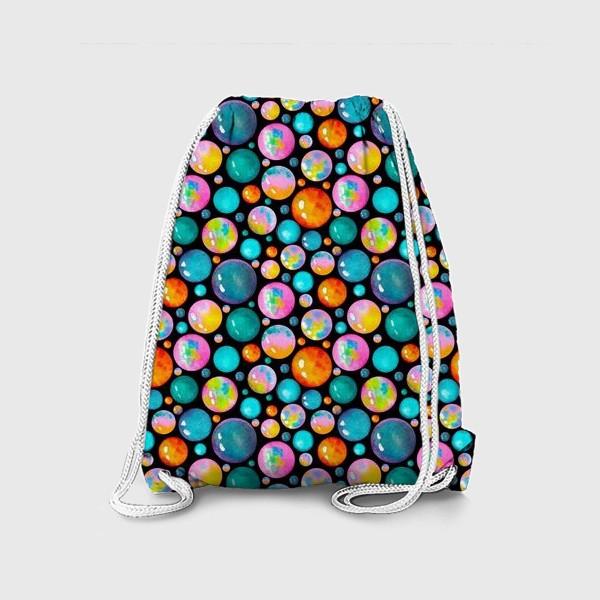Рюкзак «Паттерн яркие пузырьки»