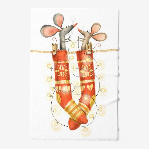 Полотенце «Новогодние мышки»