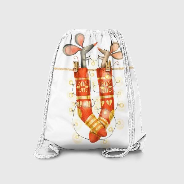 Рюкзак «Новогодние мышки»
