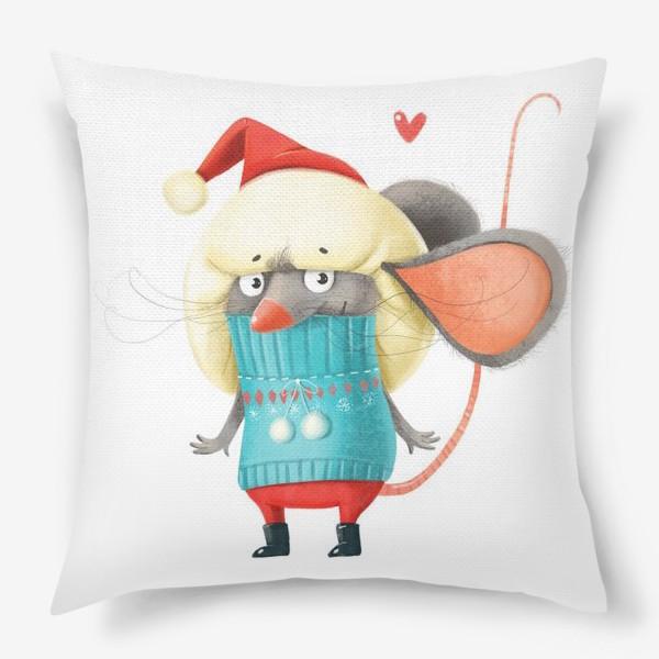 Подушка «Новогодний мышонок»