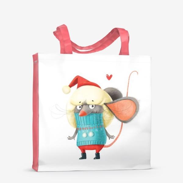 Сумка-шоппер «Новогодний мышонок»