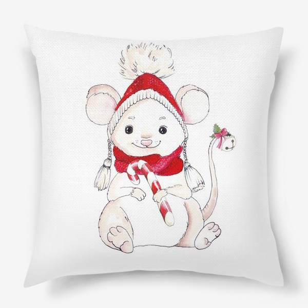 Подушка «Рождественская Мышка»