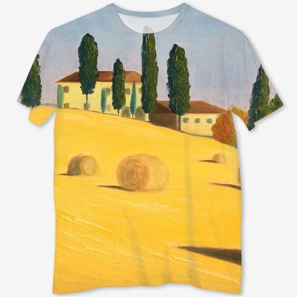 Футболка с полной запечаткой «Тоскана»
