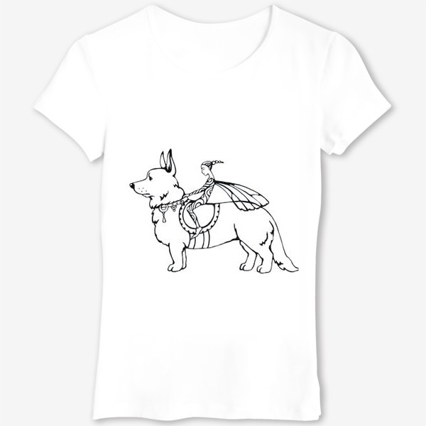 Футболка «корги- собака эльфов»