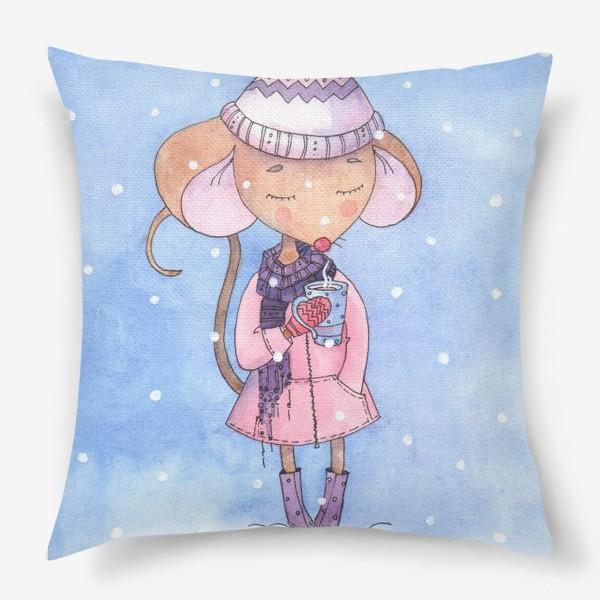 Подушка «#рисуем_мышей»