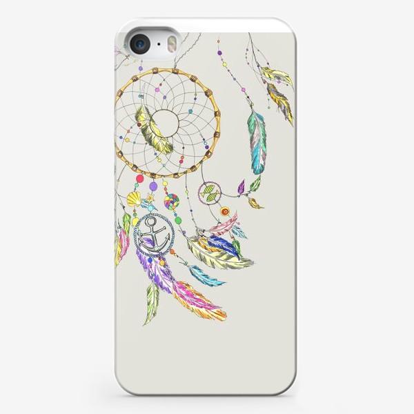 Чехол iPhone «Ловец снов на сером»