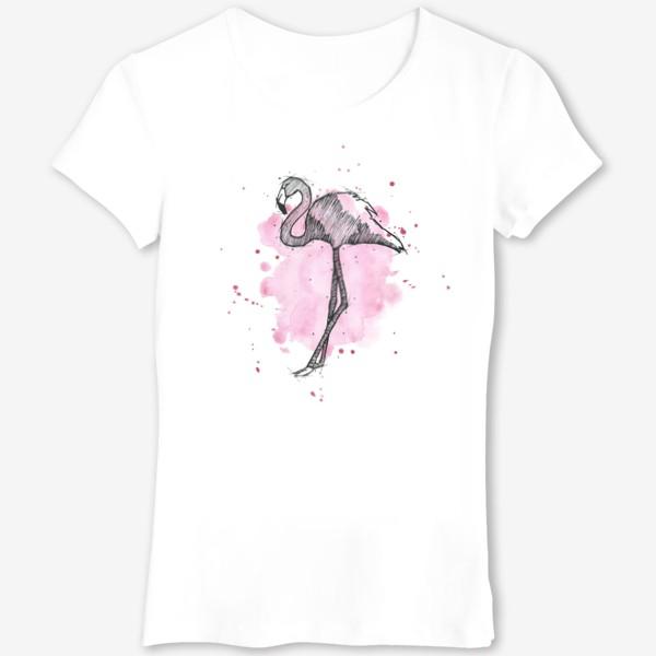 Футболка «Rose flamingo»