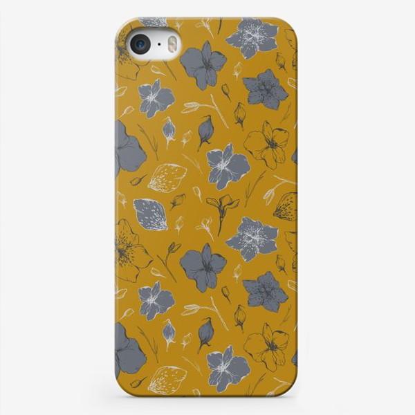 Чехол iPhone «Паттерн, цветы, графика»