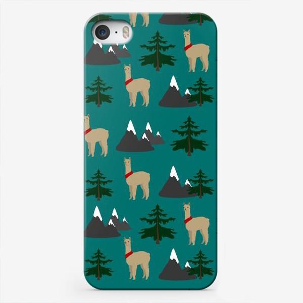 Чехол iPhone «Альпака, лама, паттерн»