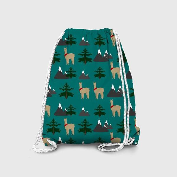 Рюкзак «Альпака, лама, паттерн»