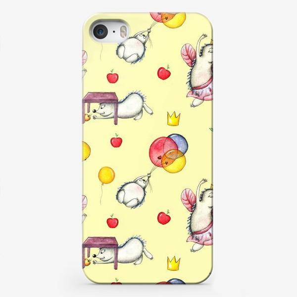 Чехол iPhone «Ежики»