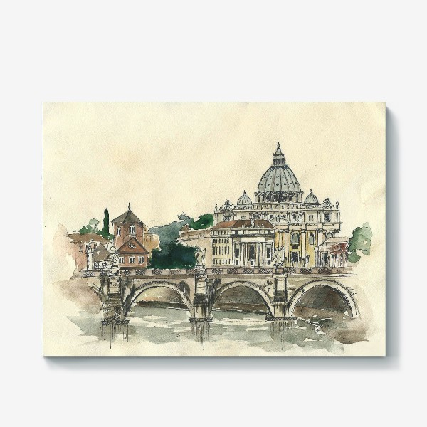 Холст «Рим, Ватикан»