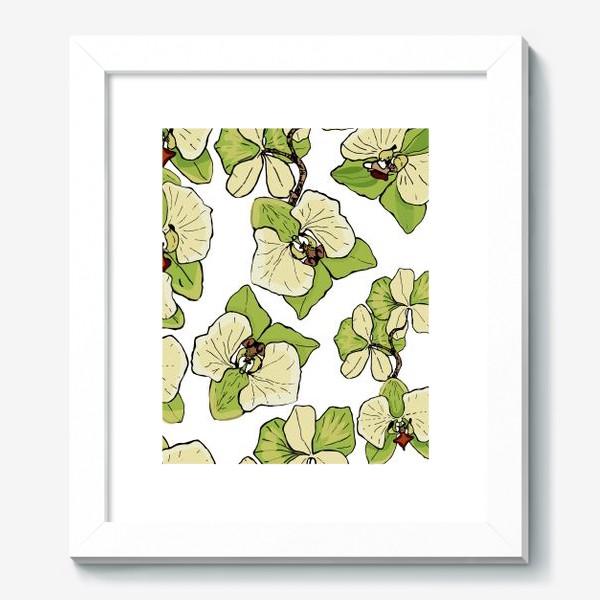 Картина «зеленая орхидея»