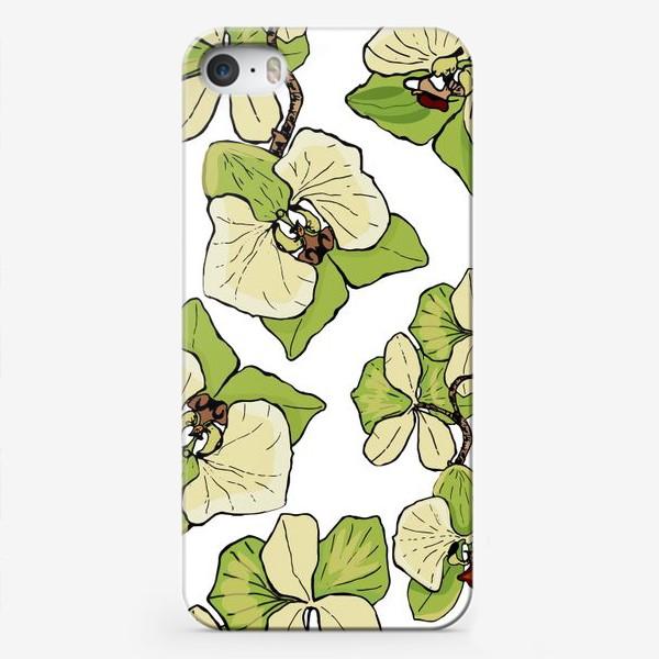 Чехол iPhone «зеленая орхидея»