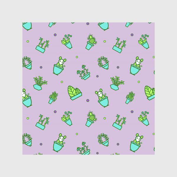 Скатерть «Цветы и мышки (квадрат)»