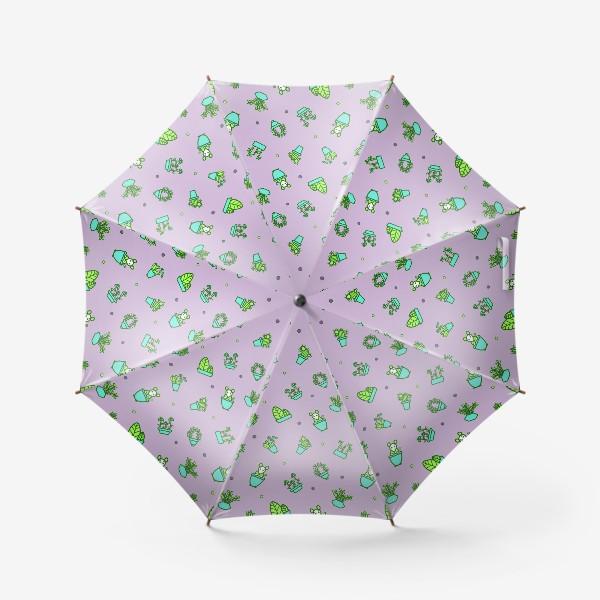Зонт «Цветы и мышки (квадрат)»